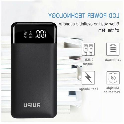 Power Bank 24000mAh Portable Charger USB