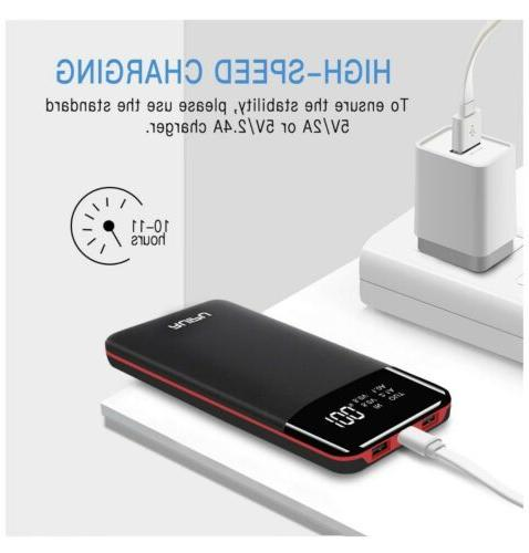 Power Bank 24000mAh Charger Capacity USB Battery