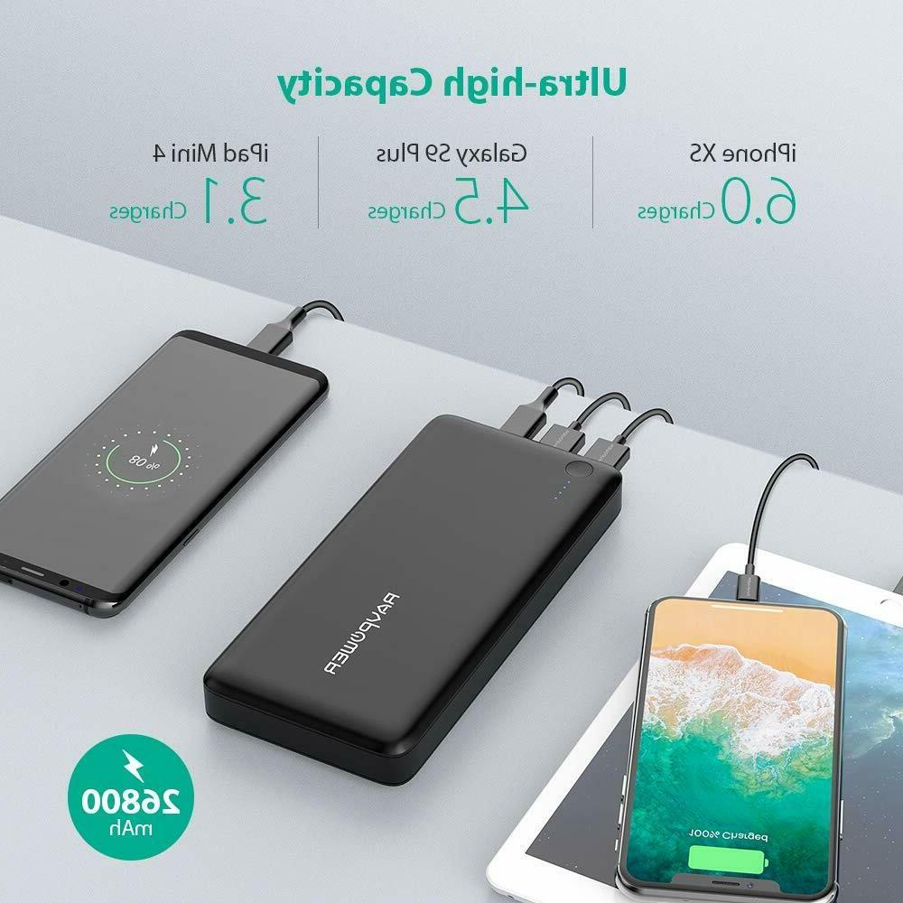 Power 26800mAh Portable Charger Fast