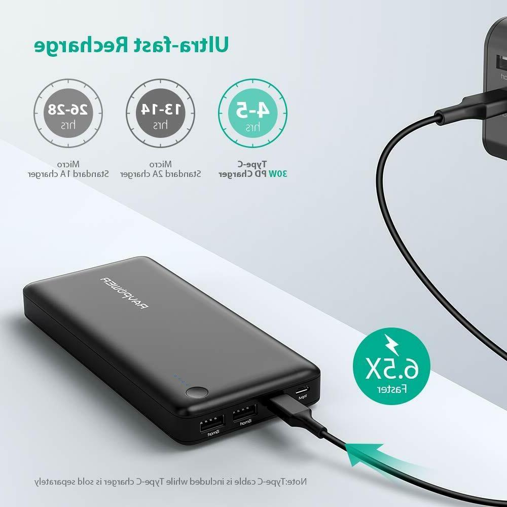 Power RAVPower Portable Charger Fast Charge,