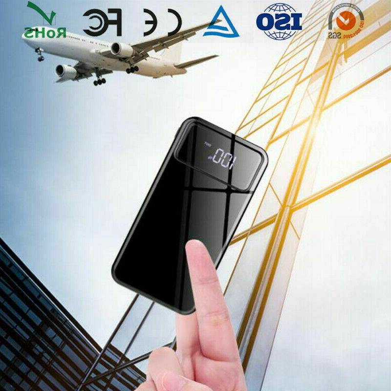 Ultra-thin Portable Power Bank 500000mAh Battery Charger for Cell