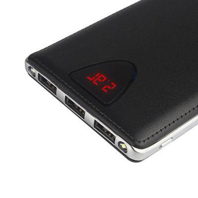 50000mAh Power Bank 3USB 2LED External Battery Charger For i