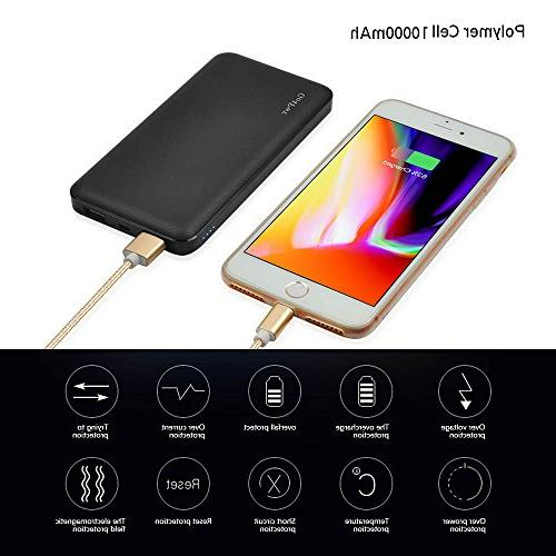 Power bank,Go4Pwr 10000mAh Bank Portable Powerbank 2-Port External Battery Compatible More