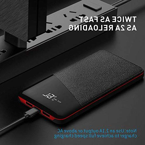 Power Bank, Phone Charger Battery LCD 2.1A Port, and 2 Charging for Smart Other Devices,
