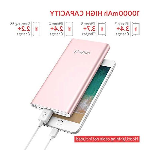 Yoobao Portable Slim External Backup Battery with Dual Compatible iPhone Plus Android More