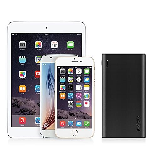 EasyAcc 10000mAh Power Brilliant External Battery Classic Portable Charger for iPhone - Black