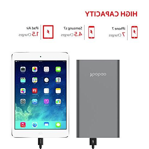 Yoobao Power 20000mAh High Pack Powerbank Battery Backup Charger with Dual Input Output Compatible iPhone 7 Tablet & -