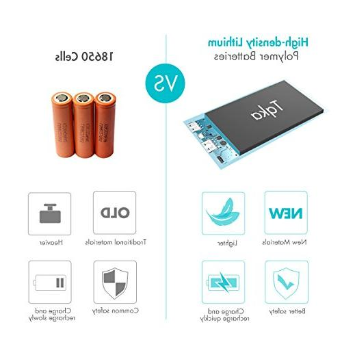 Tqka 10000mAh One of Most Chic and Attractive Chargers, Dual Brilliant for Tablets and Black