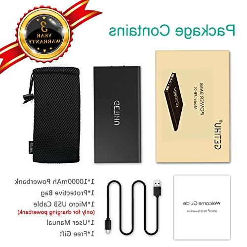 GETIHU Portable Bank Slim Flashlight External Backup for 8 7 Android Cell Phone