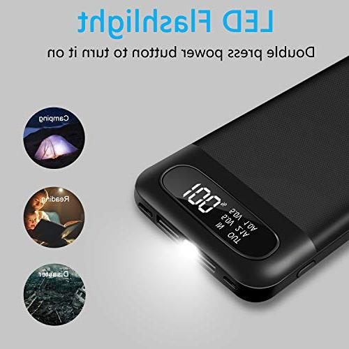 Portable Battery with Triple Battery Tablet Android and Other Cellphones Black