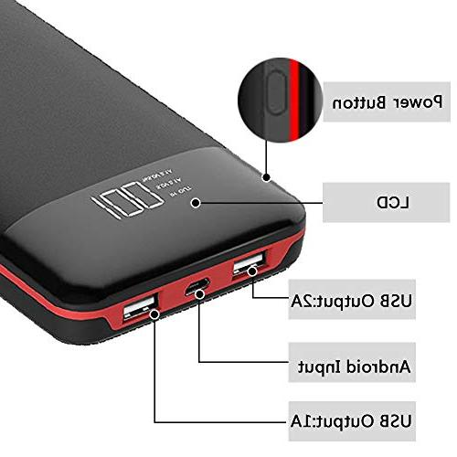 24000mAh Capacity 2 Output Battery Pack Compatible with Android and