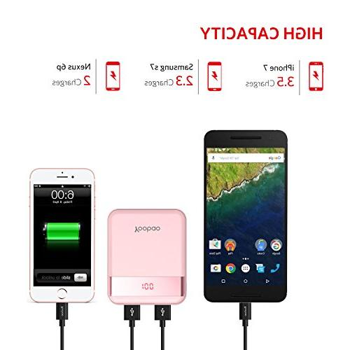 Yoobao Bank Small External Cell Backup Pack (LED Dual Compatible X Android More - Pink