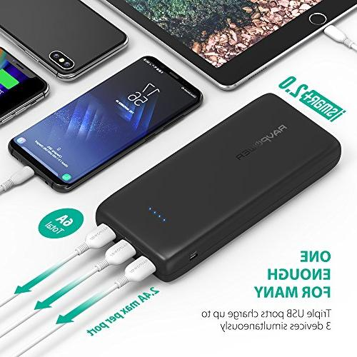 Portable Charger 32000 RAVPower 32000mAh Battery Pack 6A Output, Power for iPhone iPhone X, and