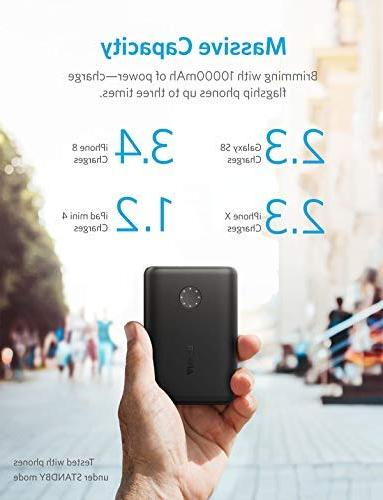 Anker Ultra-Compact 10000mAh Portable Charger, Upgraded PowerIQ 2.0 Fast Charge Samsung Galaxy and