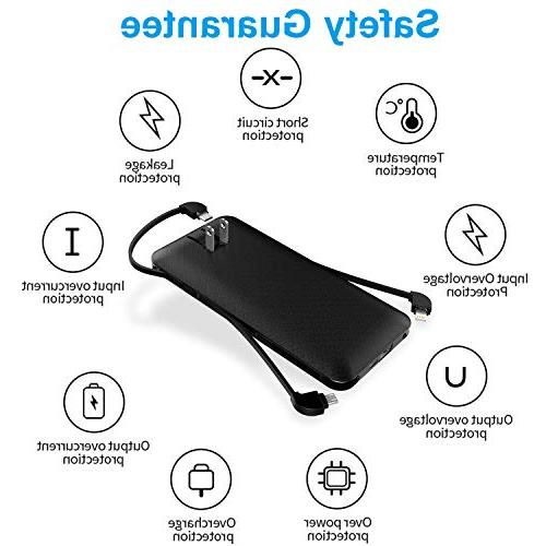 10000mAh Q Slim Bank Battery with Tpye C Three Kinds for mobilephone
