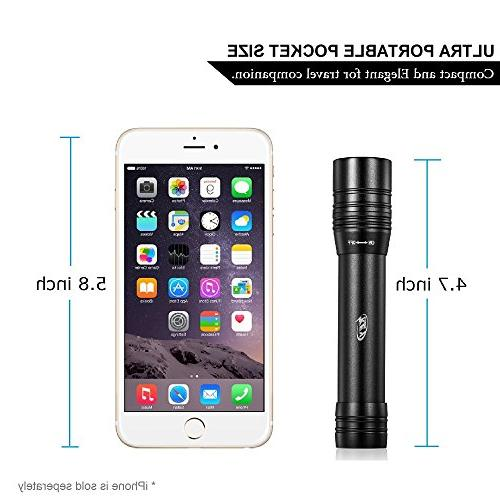 Rechargeable LED Flashlight, Power Portable Charger 3000mAh with High Intensity 170 Lumen Battery and