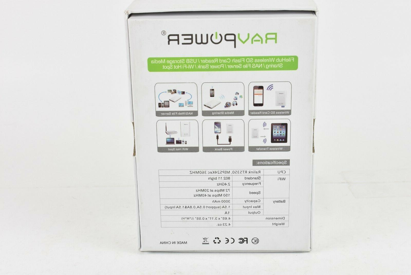 RAVPower Flash Card Storage Power Black
