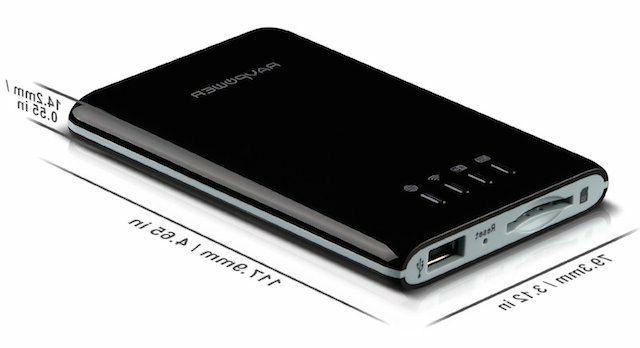 RAVPower Hub Flash Reader Storage Media Power Black