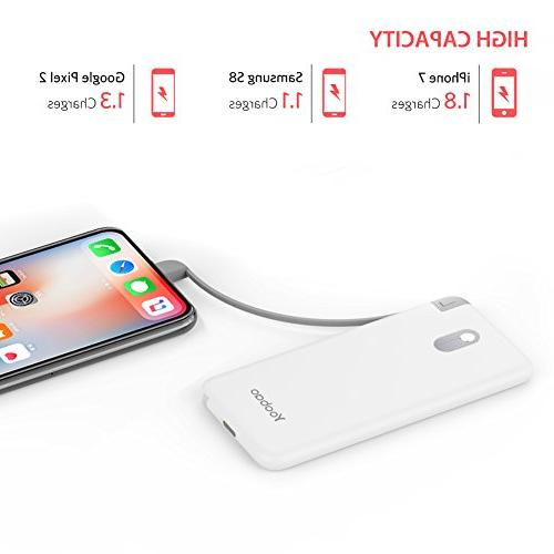 5000mAh Bank External Battery Pack Built-in Compatible iPhone More -