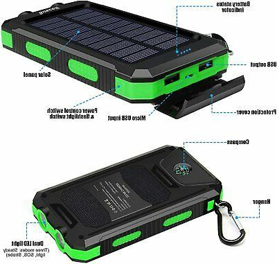 Solar Charger, 20000mAh Solar Power Bank Cell