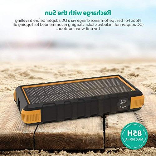 Solar 25000mAh Outdoor Power C Pack Outdoor Camping