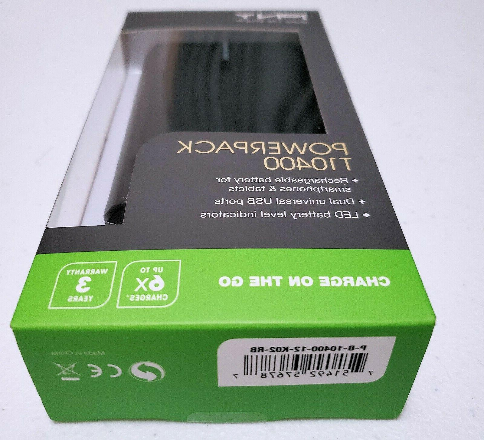 technologies power bank t10400 10400mah rechargeable lithium