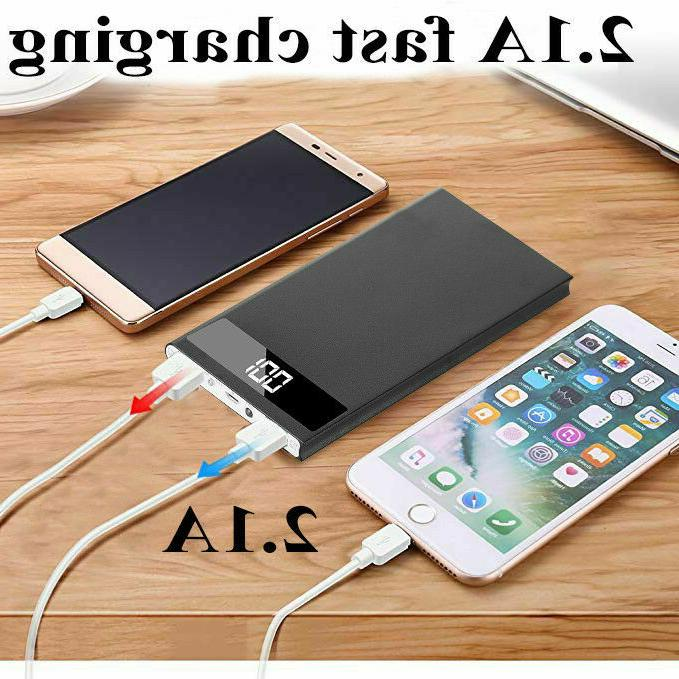 Ultra Thin Bank External Charger LCD