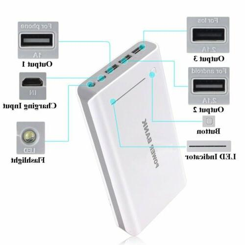 100000mAh Backup USB Power Bank Pack Charger For Cell Phone