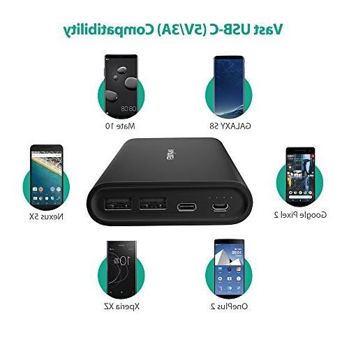 RAVPower 26800mAh Dual Port Battery Pack Phone Charger iPad, and MacBook