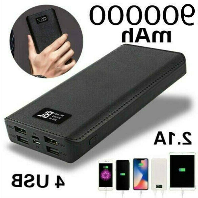 usa 900000mah portable power bank lcd led