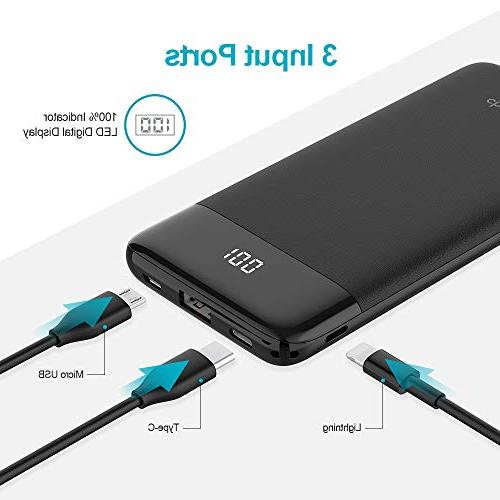 USB Bank PD Slim Charger Power & Charge Compatible 2, iPhone,