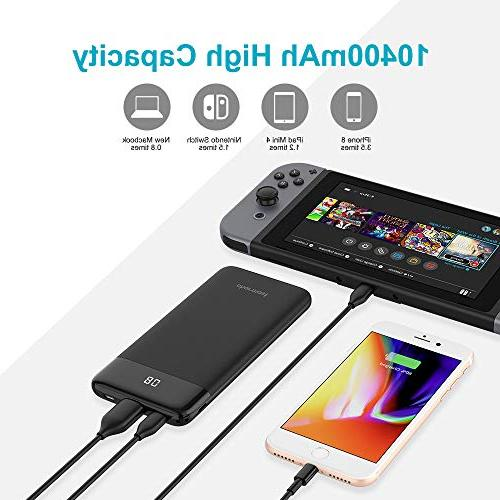 USB PD Portable Slim 10000 Phone Power Delivery Charge Compatible Google 2, iPhone, S8