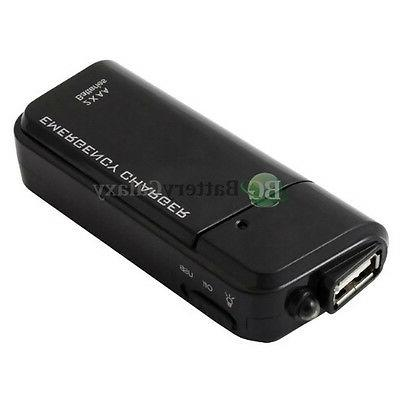NEW USB Emergency Portable 2AA Battery Power Charger for And