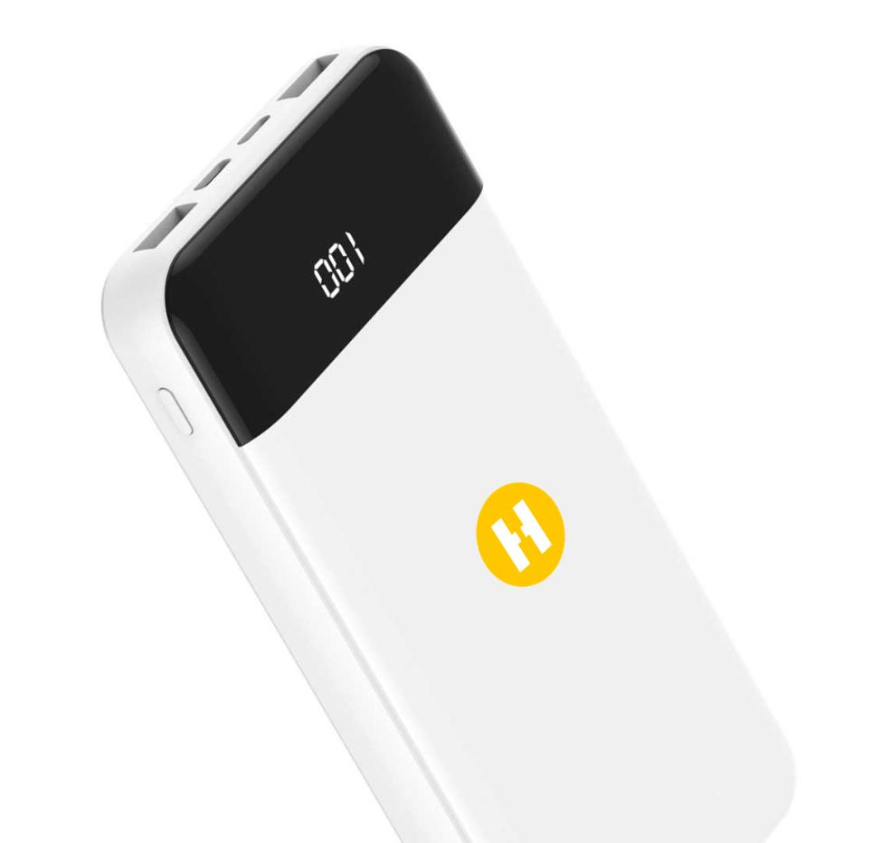 verve 20000 mah fast charge white power