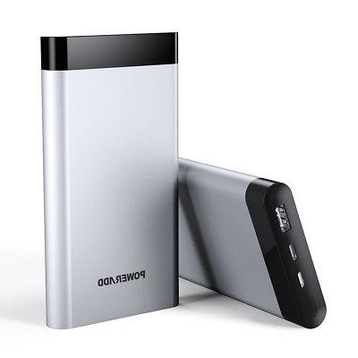 10000mAh &Lightning LED Portable Charger Battery