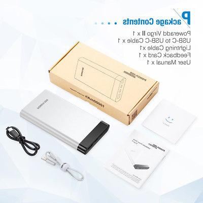 10000mAh Power Bank &Lightning Portable Charger External