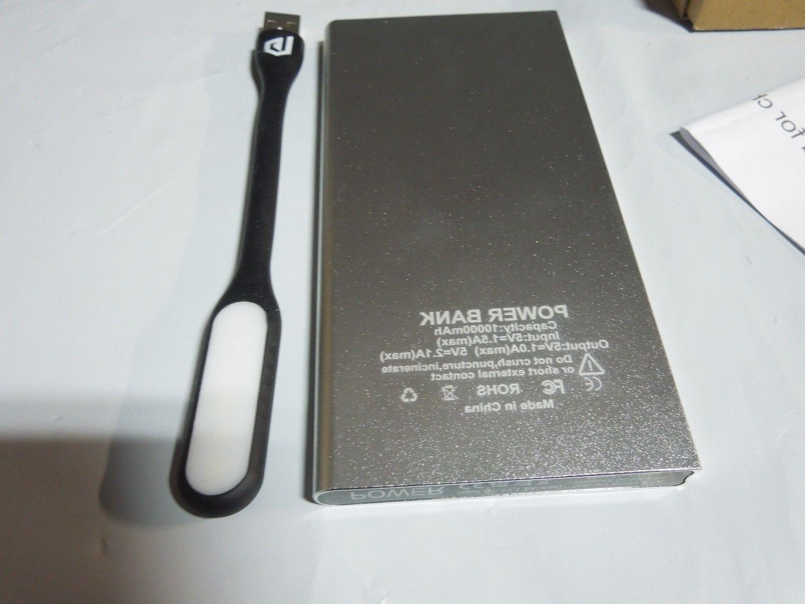 W/Extra Book Port Portable Power Bank