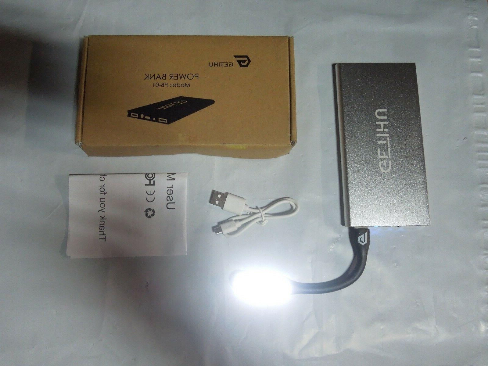 w extra book flashlight 2 port charger