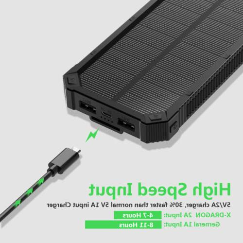 100000mAh Power Bank External Charger for Cell USA
