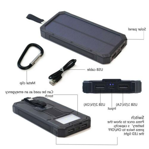 100000mAh Solar Bank Pack Charger for USA