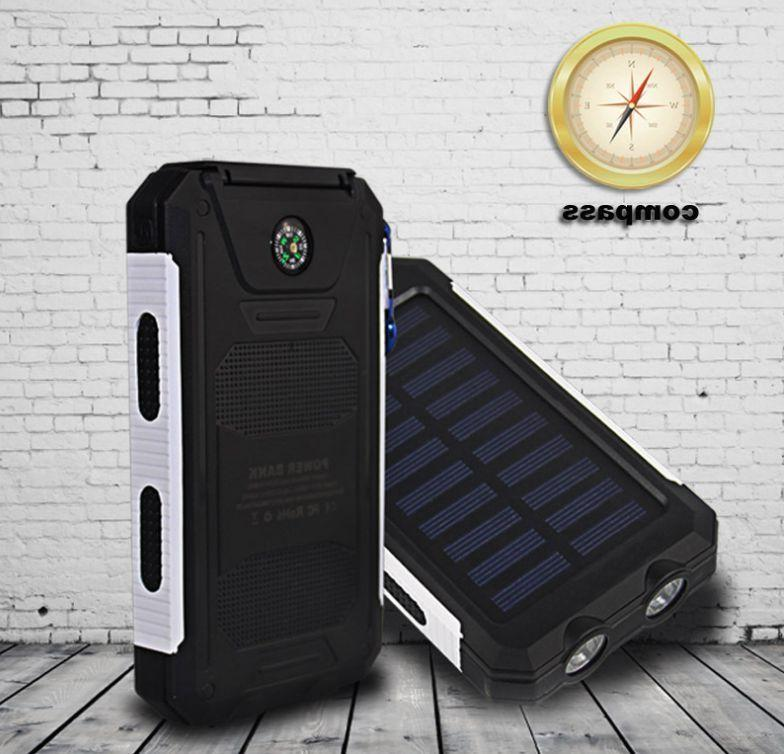 Waterproof Solar Power 500000mAh Battery Charger US