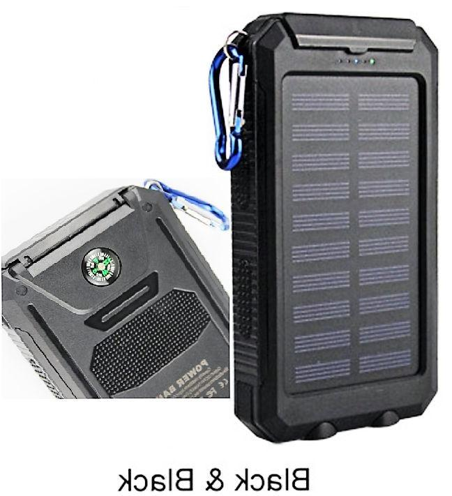 2020 Waterproof Solar Bank Portable Charger New US