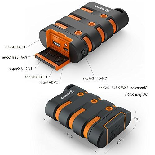 Waterproof Charger, Jackery 9000mAh Emergency LED for Outdoor