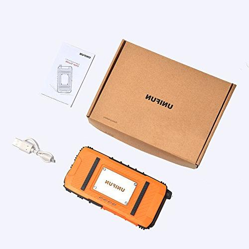 Unifun Waterproof Battery Power with Strong LED Flashlight and Strap Tablets, Devices