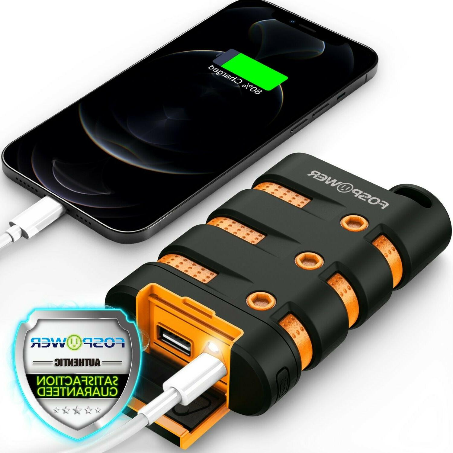 waterproof heavy duty portable phone charger external