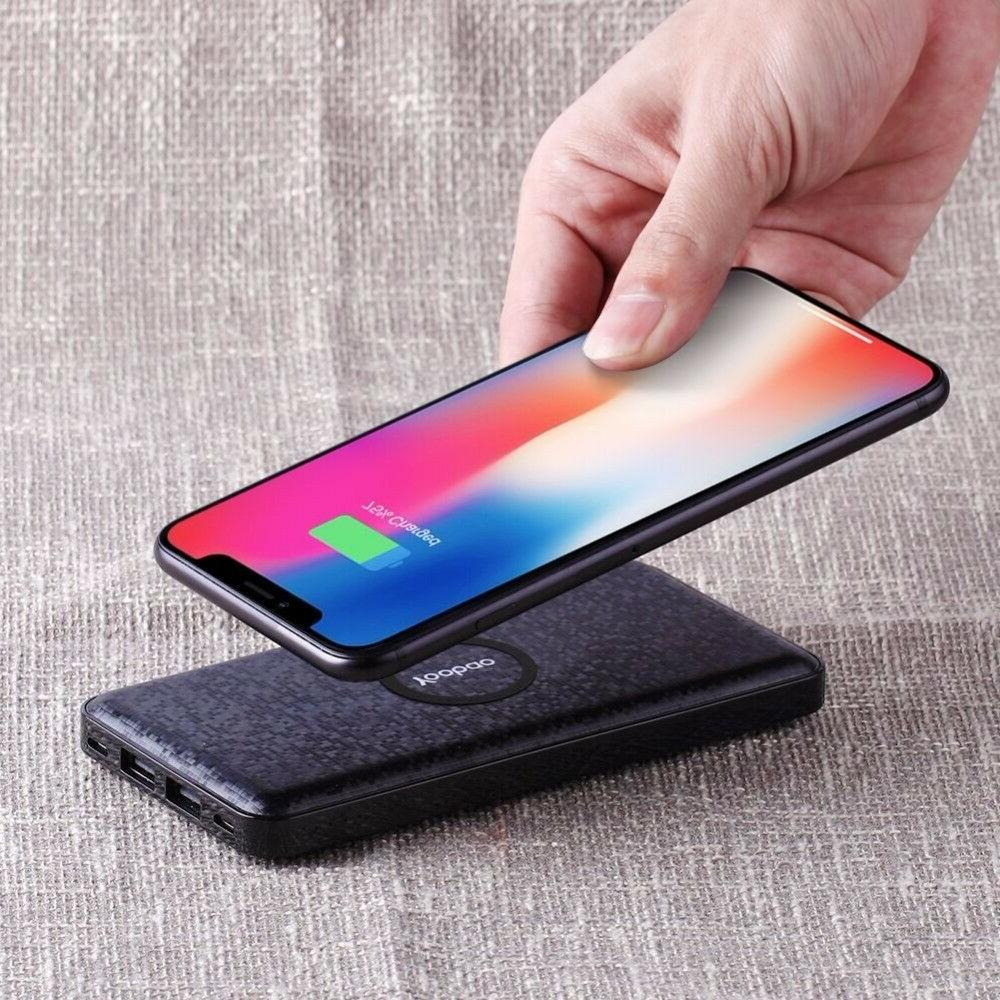 wireless charger 5000amh portable dual usb cool