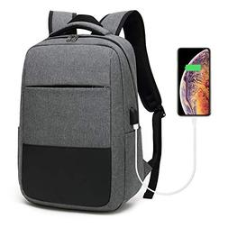 Laptop Backpack, Travel Computer Bag with USB Charging Port,