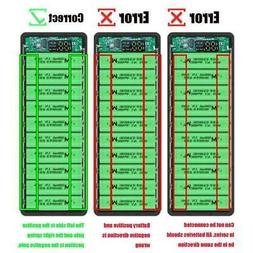 LCD Display DIY 10x18650 Battery Case Power Bank Shell Charg