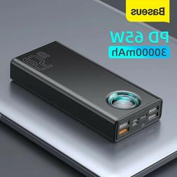 Mobile Charger 65W Power Bank 30000mAh PD Quick Charging FCP