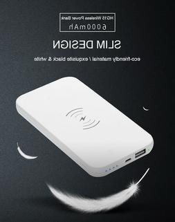 New 10000mAh Qi Wireless Power Bank B Portable Charger For S